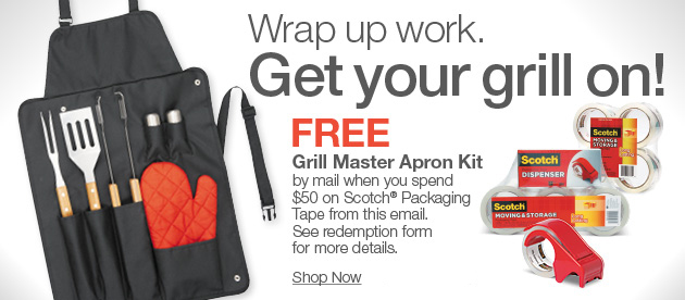 FREE Grill Master Apron Kit + 30% off Sharpie & big deals on pack & ship & more!